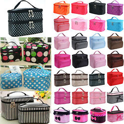 Jewellery Vanity Case Storage Bag Women Beauty Makeup Nail Polish Cosmetic Bags $8.35