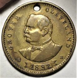 1892 Grover Cleveland Political Campaign Token Medal Unlisted Brass 22mm