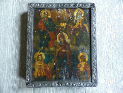 Superb Antique 18th Century Russian Handpainted Wood Icon