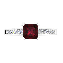 0.66 Ct Diamond Natural Ruby Rings For Womenand039s 14k Solid Yellow Gold Size 7 6 8