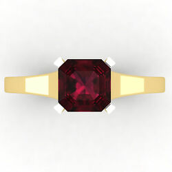 New Year 0.60 Ct Stunning Diamond Natural Ruby Ring Solid 14k Yellow Gold Size 8