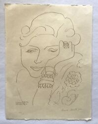 Henri Matisse Portrait Of Madame Dorothy Taley Cahiers D'art On Japon 45x60