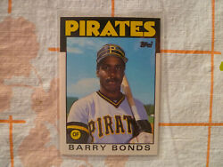 1986 Topps Traded Barry Bonds Rookie Card. Rc. Pittsburgh Pirates Baseball