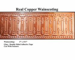 Dollhouse Miniature Copper Wainscoting By World Model