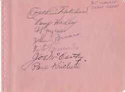 1935/36 New York Yankees Team Signed Album Page W Lou Gehrig Scout Paul Krichell