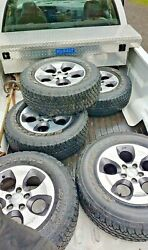 5 Bridgestone Dueler A/t Tires 255/70/r18 With Wheels New Take Offand039s Purple Jeep