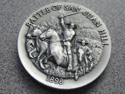 Longines Symphonette Sterling Silver Battle Of San Juan Hill 1 Oz