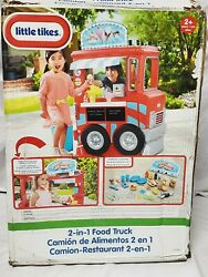 Little Tikes 2-in-1 Pretend Play Food Truck Deluxe Kitchen Lemonade Stand Food