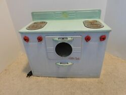 Antique Vintage 1950s Tin Metal Empire Little Lady Electric Toy Stove Oven Range