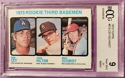1973 Topps 615 Mike Schmidt Rookie Card W/ Ron Cey Bccg 9 Near Mint+