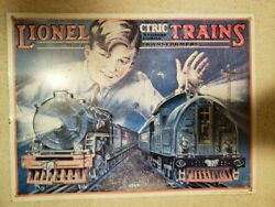 """1929 Lionel Trains Tin Sign From Citric Railroad 15.75""""x11.75"""" Vintage 1992"""