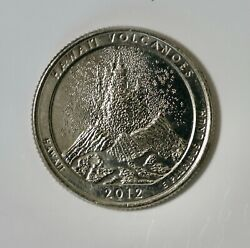 2012-d Hawaii Volcanoes State Park Quarter Au Free Shipping