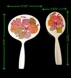 Vintage 1970and039s Tinkerbell Toy Brush And Mirror Rare Girl Toys