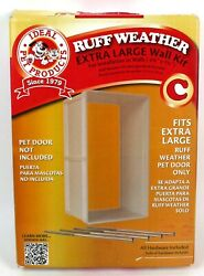 Ideal Pet Products Ruff Weather Protector Dog Door Wall Kit *Extra Large* New