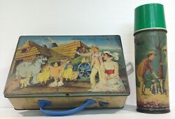 1960's Mary Poppins Metal Lunch Box And Thermos From India Ultra Rare By Eagle