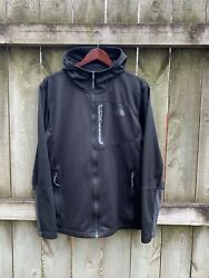 The North Face Hoodie Jacket Men's Large Black Zip Up $26.99