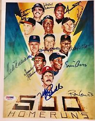 500 Home Run Club 8x10 Signed By All Plus Ron Lewis, The Artist