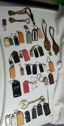 COACH LEATHER BAG CHARM LOT OF 32 1 MICHAEL K 2 FOSSIL AND 3 DOONEY amp; BOURKE $100.00