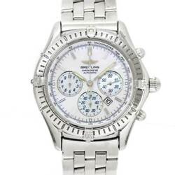 Breitling Shadow Flyback A35312 Chronograph Date White Shell Dial 90120527