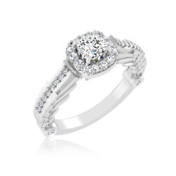 14k Solid White Gold 0.84 Ct Diamond Wedding Real Round Solitaire Ring Size 7 8