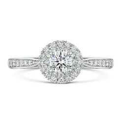 Real 1.20 Ct Stunning Diamond Engagement Round Rings Solid 14k White Gold Size 7
