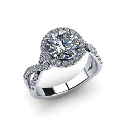 Genuine 0.96 Ct Round Diamond Wedding Rings Solid 950 Platinum Solid Band Size 7