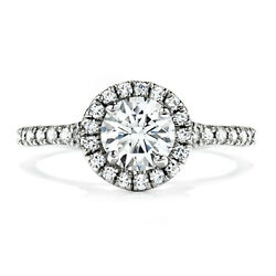 Real 0.90 Ct Round Diamond Engagement Ring For Women Solid 14k White Gold Size 8