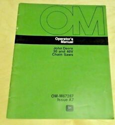 John Deere 30 And 40v Chainsaws Om-m67287 Issue A7 Operator Manual