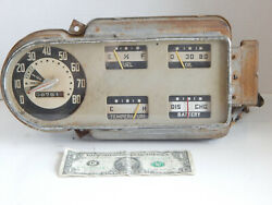 Used 1948-1950 Ford Pickup Truck Gauge Cluster Panel With Some Wiring And Controls