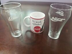 Vintage Coca-cola Coffee Tea Cup Mug  1996 To Work Refreshed Reprint From 1951