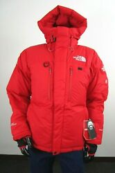 NWT Mens The North Face Himalayan Summit Down Hooded Insulated Winter Parka Red $499.95