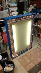Scarce Vintage Retro Movie Theater 2 Sided Lighted Sign Now Playing