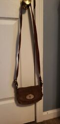 Vintage Fossil Brown Leather Crossbody Small Bag Purse  $19.99