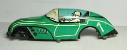 Marx Speedway 7 Green Tin Wind Up Race Car Body And Chassis Part Repair 1930s Toy
