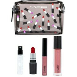 New Mac Cosmetic 4 set with Pouch 1 Fulls3 Minis Pouch $24.90