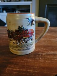 Set Of 4 Budweiser, Rare, Christmas Holiday Beer Stein, 1980, 1st Year Of Issue