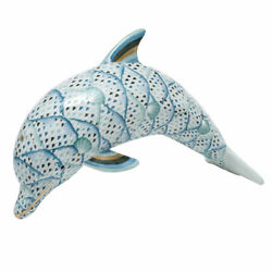 Herend Hungary Porcelain Dolphin Large 05798vhsp73 Fishnet New Limited Edition