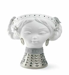 Lladro Retired 01007288 Byzantine Head White And Silver Limited Ed. New Box 7288