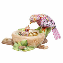 Herend Hungary Porcelain Birds Nest 05085vhsp39 New Limited Edition