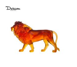 Daum Amber Sand Lion 05562 France Crystal New In Box Limited Edition