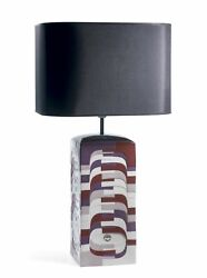 Lladro Retired Estratos - Large Lamp - Burgundy Ce 01009064 New In Box 9064