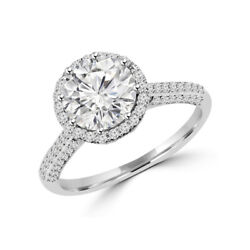 Solid 950 Platinum Rings 1.30 Ct Real Diamond Wedding Ring For Bridal Size 7 8 9
