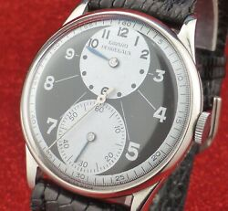 Rare Girard Perregaux Duo Dial And Two Tone, Steel Back From 1950
