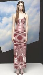 Missoni Red White Sequin Embellished Maxi Dress Gown 42 6