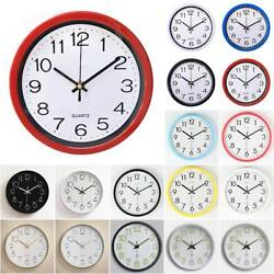 Large Modern Luminous Quartz Wall Clocks Non ticking Glow In The Dark Work Decor