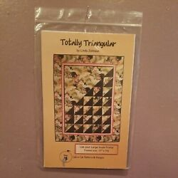 Totally Triangular Quilt By Calico Cat Paper Pattern For Large Scale Fabrics