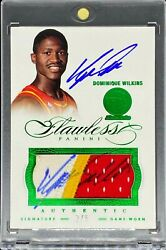 Dominique Wilkins 2012/13 Flawless 3 Colors Patch Dual Auto 2/5 Rare