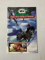 Maple Grove Farms Of Vermont Holiday 1994 Mailer Ad Catalog Vintage Gift Catalog