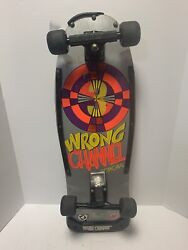 Vintage 1980's Wrong Channel 3 Concave Complete Skateboard All Original Rare