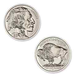 1913-d Buffalo Nickel And 1916-d Mercury Dime Uhr 2 Troy Oz Silver Rounds